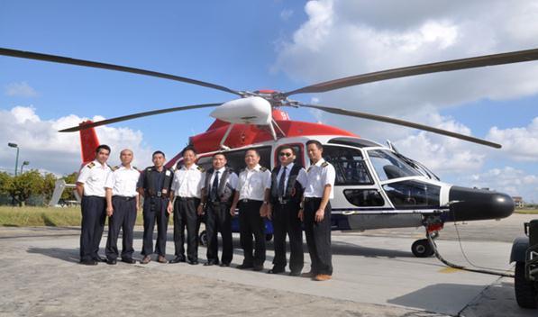 湛江港引航站使用直升飞机接送引航员